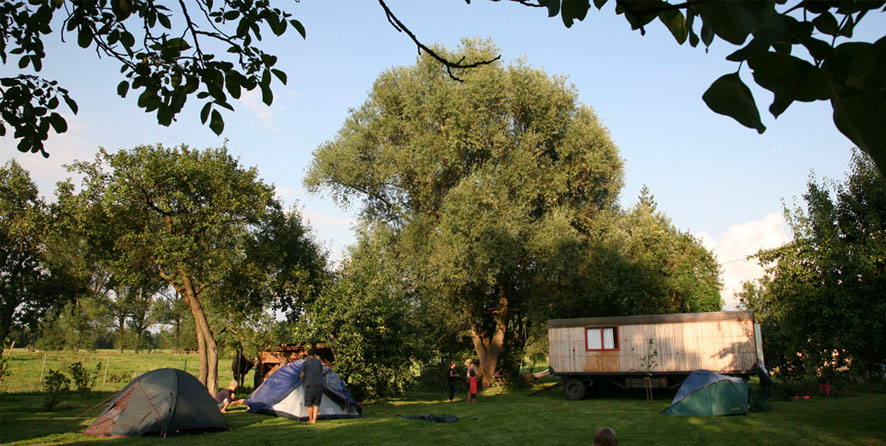 Sommerliches Zelten <strong>im Garten</strong>